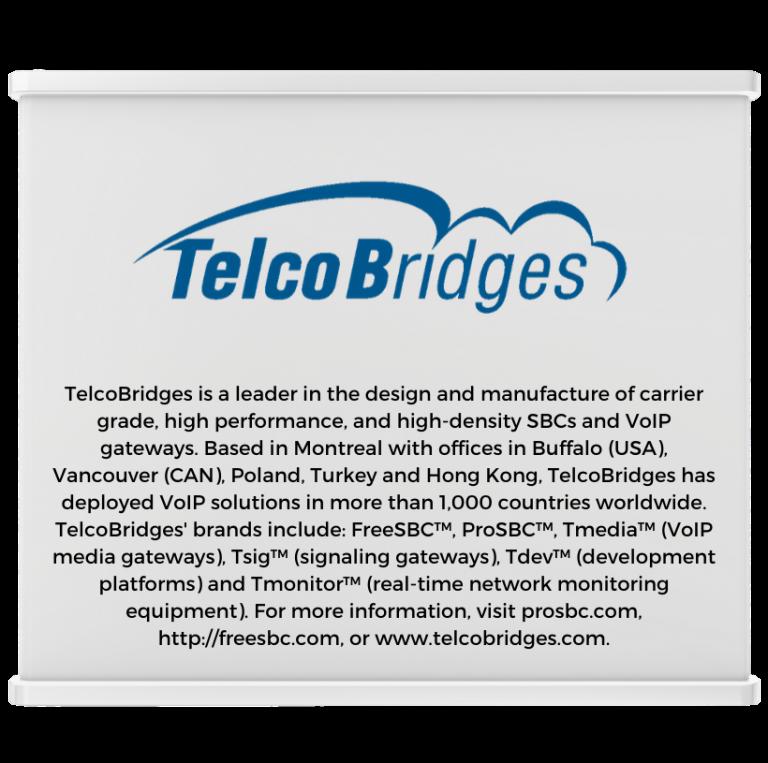 TelcoBridges Expo Booth