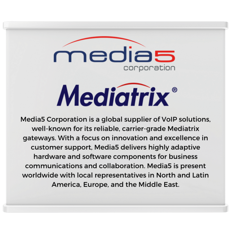Media5 Expo Booth